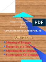 Properties of Triangle(Class Xth)-Lamba Pind