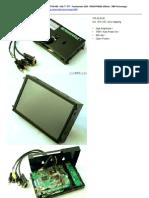 Ctf700-Hm - Vga 7 Tft - Touchscreen Usb - Open-frame
