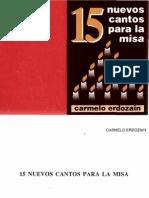 15 Nuevos Cantos Para La Misa Carmelo Erdozain