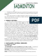 Apuntes de Badminton, 4º ESO