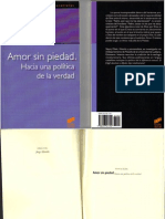 Slavoj Zizek Amor Sin Piedad. Hacia Una Politica de La Verdad