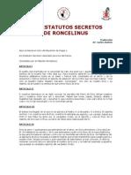 Los Estatutos Secretos de Roncelinus