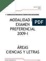 Modelos de Examen Preferencial-2009-i