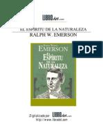 Emerson, Ralph Waldo - El Espiritu de La Naturaleza