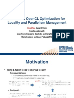 2011_03-31_XZhou_Slides-Automatic OpenCL Optimization for Localilty and Parallelism Management