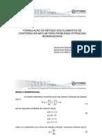 ROBERTO PETTRES APRESENTAÇÃO DA FORMULAÇÃO DO MÉTODO DOS ELEMENTOS DE CONTORNO
