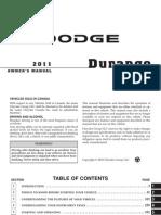 2011 Durango Owners Manual
