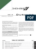 2012 Durango Owners Manual