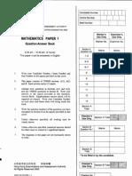 2003 Mathematics Paper1