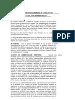 Sesión Extraordinaria del Concejo Distrital de Barranco del  29SET2011 (ARBITRIOS 2012)