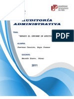 El Informe de Auditoria (Ensayo)