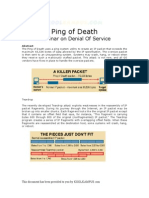 ping of death(denial of service)