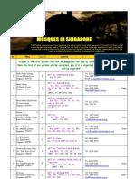 Singapore Musollah Database (Updated 14Jan08)
