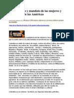 Llamamiento y mandato de las mujeres y los pueblos de las Américas