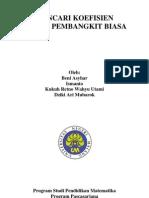 Discrete Mathematics - Mencari Koefisien Fungsi Pembangkit Biasa