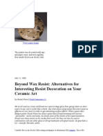 Beyond Wax Resist Alternatives for Interesting Resist Decoration on Your Ceramic Art