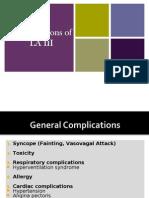 Complications of LA III