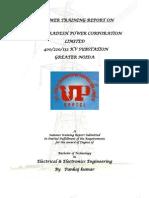 Final Training Report on400 kv  Sub Station by Er. Pankaj Kumar