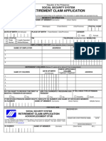 Retirement Claim Application Fill In