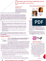 WEALTH - WIN Women's Health Policy Network Newsletter Oct 2011