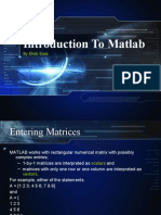 Introduction to Matlab2