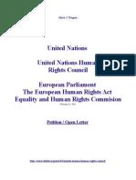 United Nations Human Rights Council  European Human Rights Act