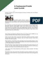 Tiga Masalah Fundamental Praktik Hukum Ekonomi Syariah