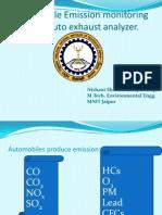 Auto Exhaust Analyzer