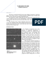 Variable Stars and Observations