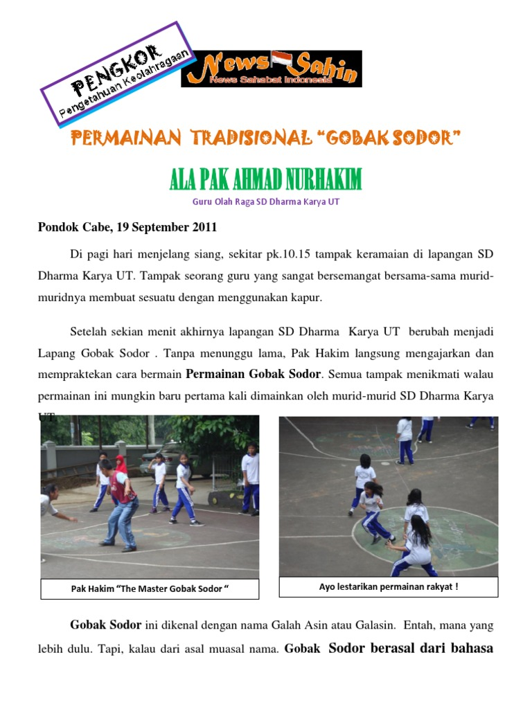 Gobak Sodor Ala Pak Ahmad Nurhakim