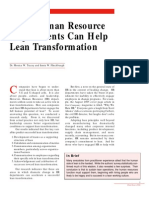 How HR Helps Lean