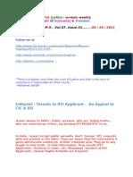 Threats to RTI Applicant