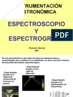 Espectroscopio y Espectrografo
