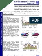 IAMC Instituto Argentino de Mercado de Capitales - Cheques Diferidos Agosto