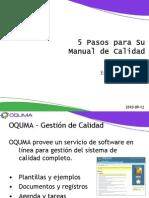 Oquma - 5 Pasos Para Su Manual de Calidad 2011