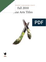 Fall 2010 - Fine Arts Titles
