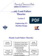 Steady Load Failure Theories