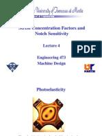 Stress Concentration Factors and Notch Sensitivity