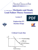Fracture Mechanics and Steady Load Failure Theory Summary
