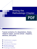 Writing the Methodology Chapter
