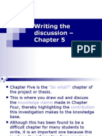 Writing the Discussion Chapter - Chapter 5
