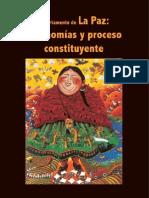 Departamento de La Paz. Autonomías y proceso constituyente