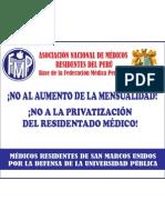 Banderola 5 - 10 de Medicos Residentes