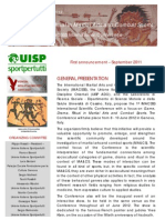 IMACSSS Genova 2012 1st Announcement