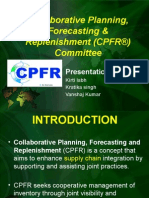 Collaborative Planning, Forecasting & Replenishment (CPFR