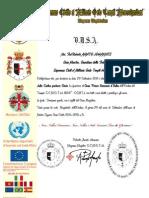 Certificato GP Onorario Perù