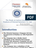 The Study on Various Insurance Products of Oriental