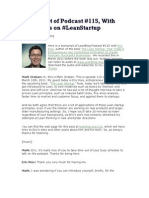 Transcript of Podcast - Eric Ries
