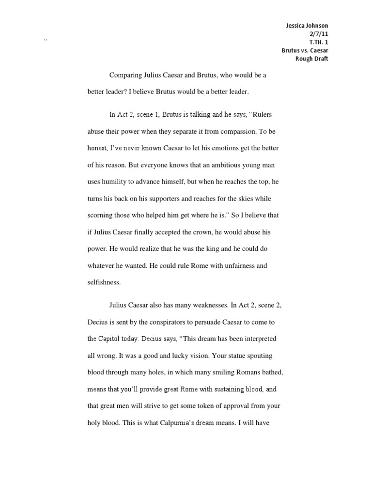 brutus speech analysis essay