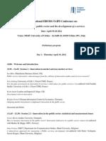 TAIPS-EIBURS Urbino Conference Outline Rev12!9!11!1!1